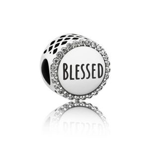 Authentic Pandora Blessed Sterling Silver Charm